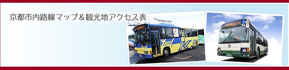 京都市内路線マップ&観光地アクセス表