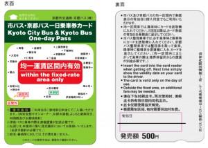 市バス・京都バス一日乗車券カード_新